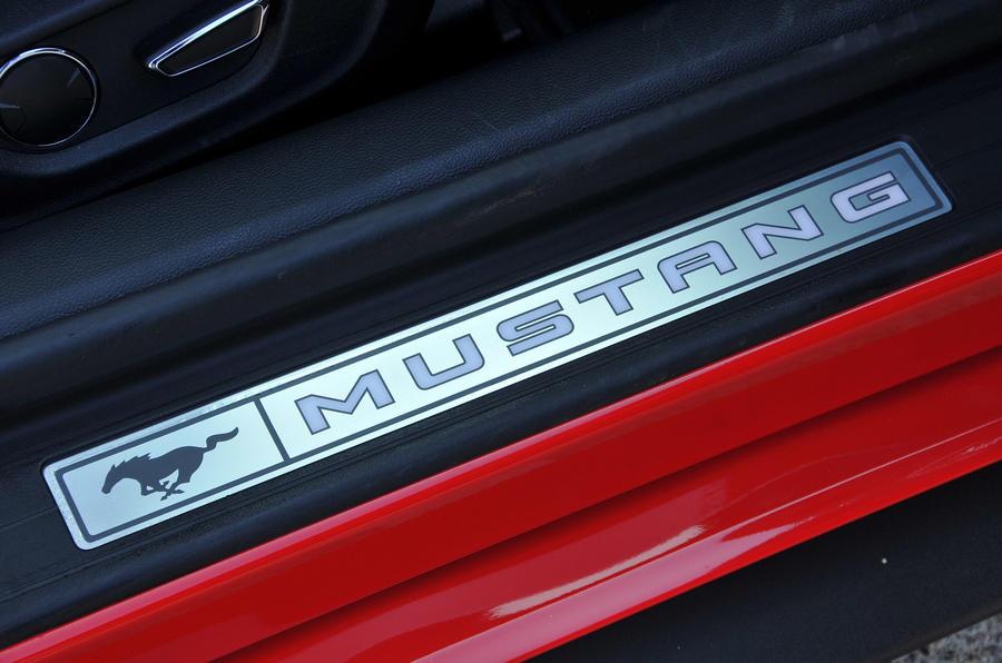 Ford Mustang Convertible kick plates