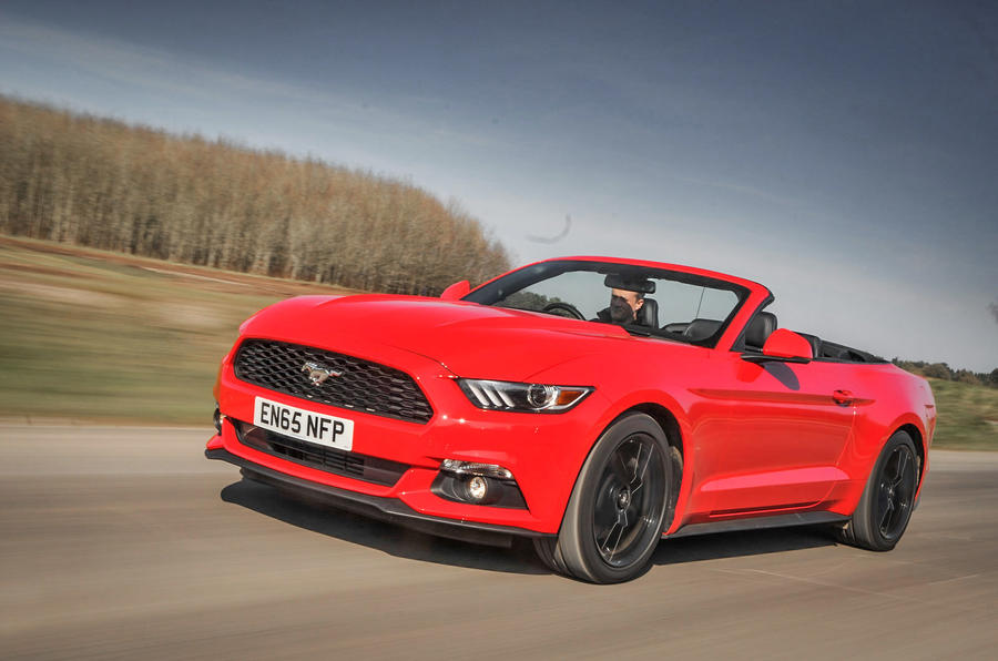 2016 ford mustang 2 3 ecoboost convertible review review autocar. Black Bedroom Furniture Sets. Home Design Ideas