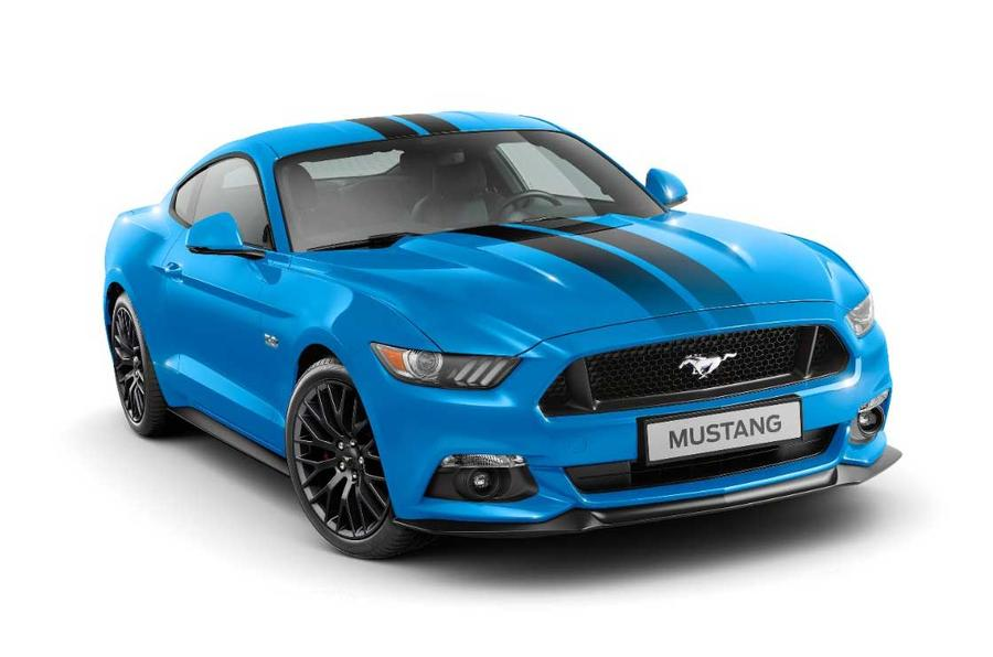 ford mustang black shadow and blue edition launched for europe autocar. Black Bedroom Furniture Sets. Home Design Ideas
