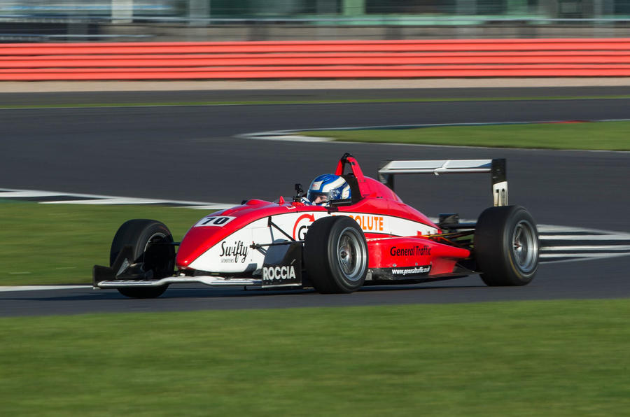 On track in a Formula 3 car at Silverstone | Autocar