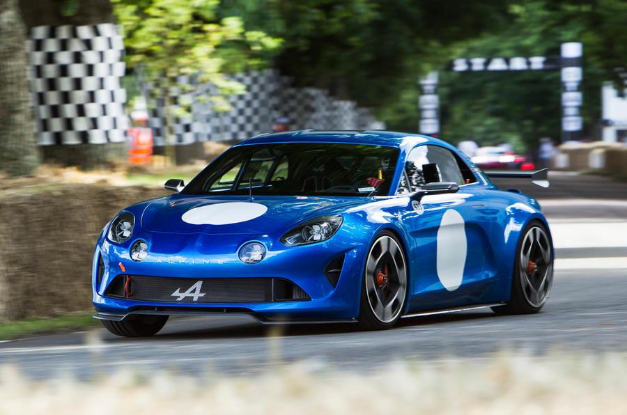 Alpine Vision concept car 2016 Goodwood Festival of Speed
