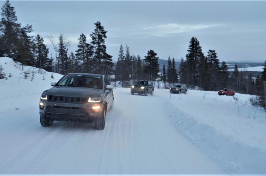 Jeep PHEVs winter testing