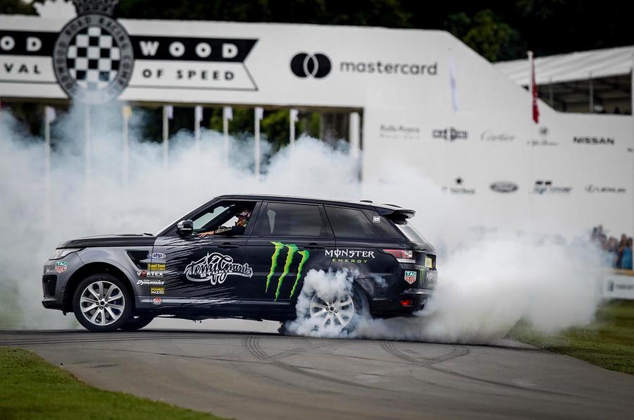 2wd Range Rover burnout