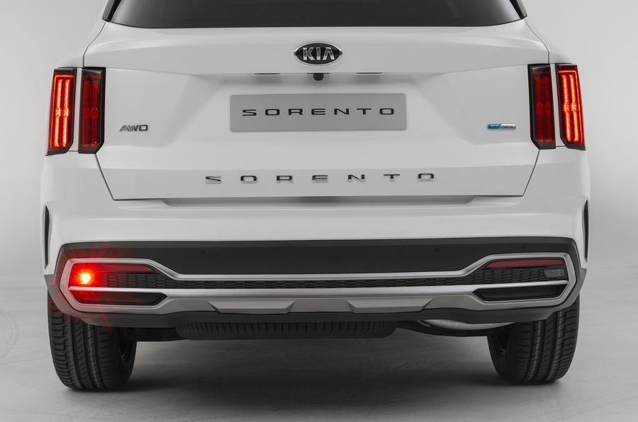 2020 Kia Sorento unveiling - rear bumper