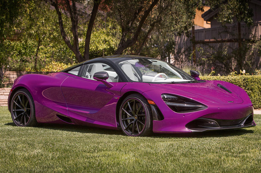 A McLaren 720S in Fux's bespoke fuchsia starred at Pebble Beach