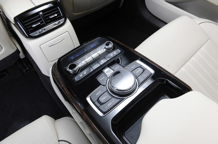 Genesis G90 rear passenger infotainment