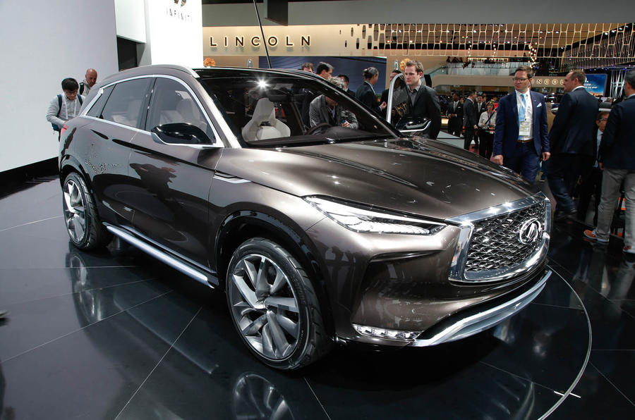 2018 nissan infiniti. fine nissan 2018 infiniti qx50 sighting shows detroit concept influence in nissan infiniti