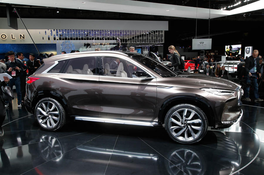 2018 infiniti crossover. beautiful 2018 2018 infiniti qx50 sighting shows detroit concept influence  and infiniti crossover