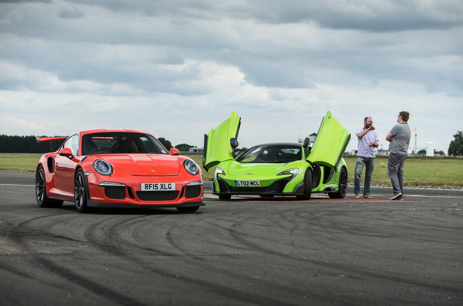 McLaren 675LT and Porsche 911 GT3 RS