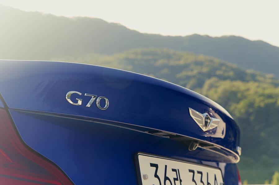 Genesis G70 rear badging