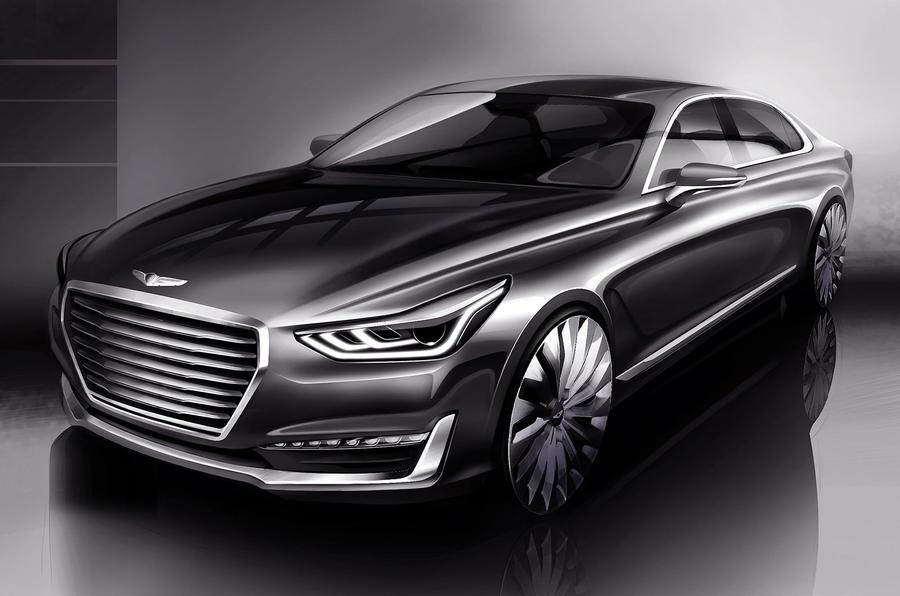 Hyundai Genesis G90 sketch