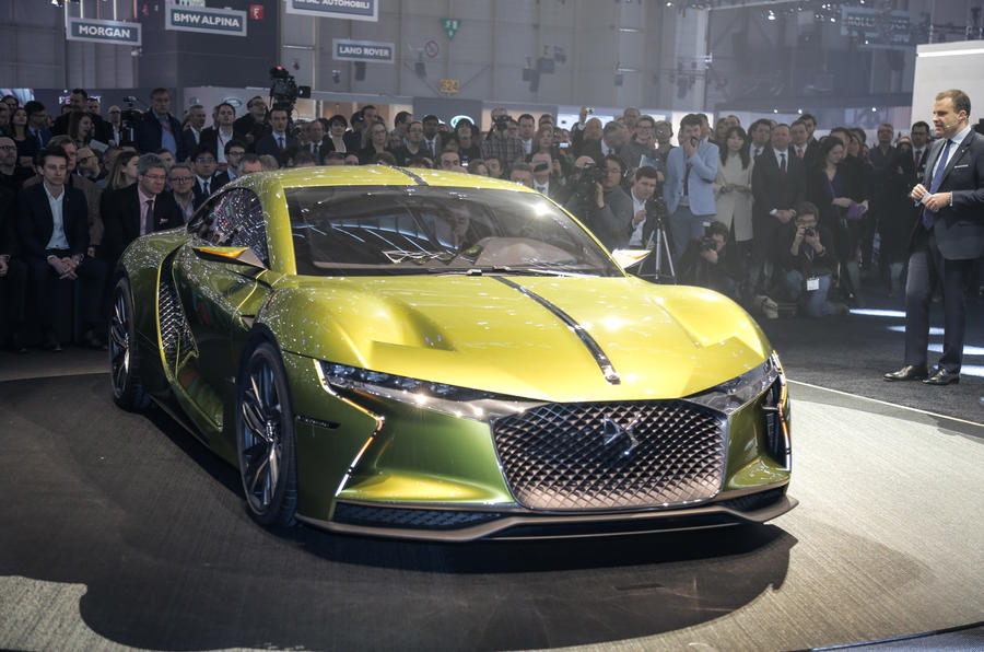 ds e tense electric concept car revealed at geneva motor show autocar. Black Bedroom Furniture Sets. Home Design Ideas