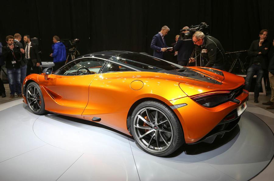 McLaren 720s showroom rear