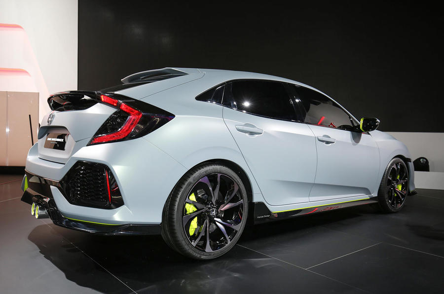 Honda Civic Type R (2014) concept sketch and prototype drive by ...