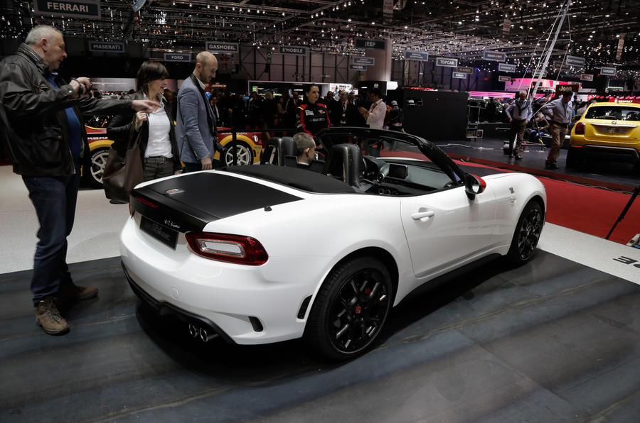 Excellent Abarth 124 Spider Makes Debut At Geneva Motor Show  Autocar