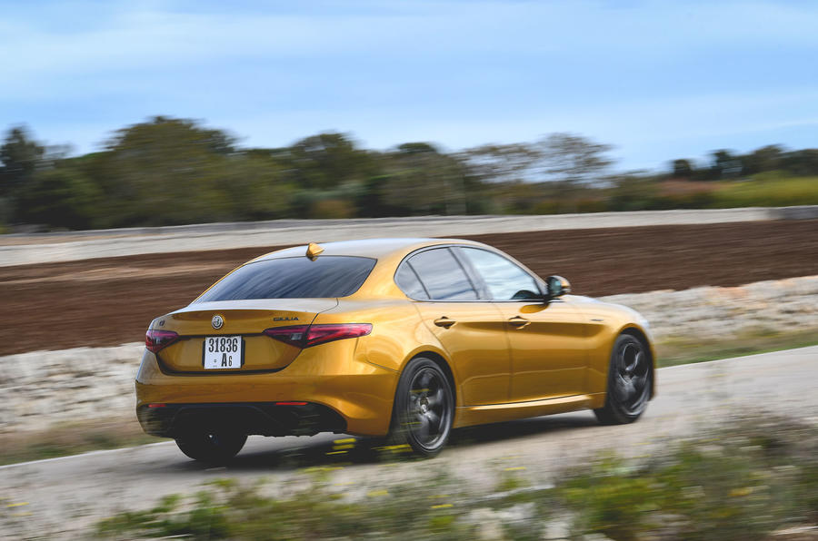 Alfa Romeo Giulia Veloce 2019 first drive review - on the road rear