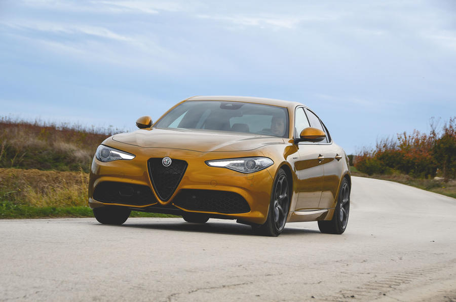 Alfa Romeo Giulia Veloce 2019 first drive review - cornering front