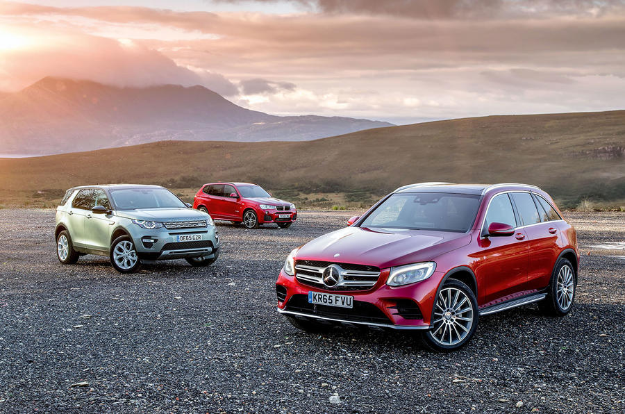 Mercedes Benz Glc Vs Land Rover Discovery Sport And Bmw X3 Group