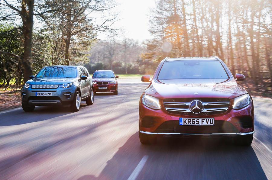 Mercedes-Benz GLC, BMW X3, Land Rover Discovery Sport