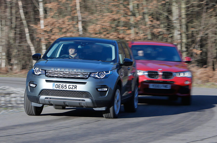 Land Rover Discovery Sport, BMW X3