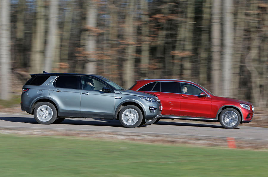 Mercedes Benz Glc Vs Land Rover Discovery Sport And Bmw