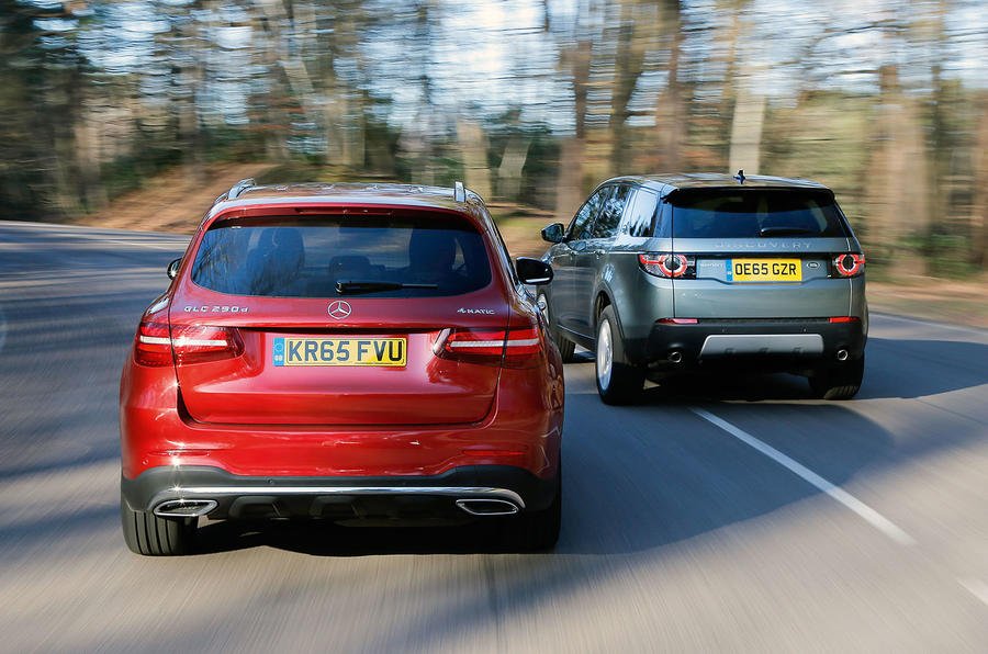Mercedes-Benz GLC, Land Rover Discovery Sport