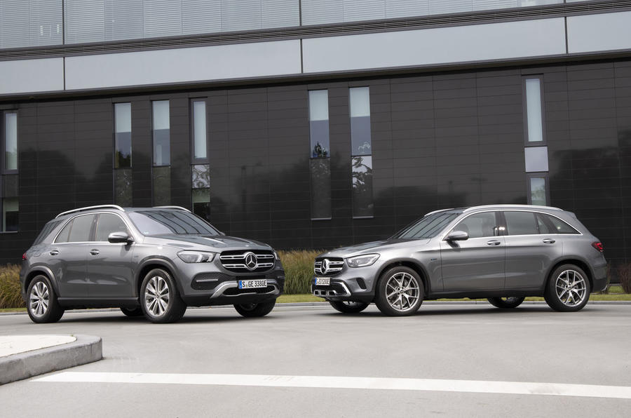 2020 Mercedes-Benz GLC 300e and GLE 350de