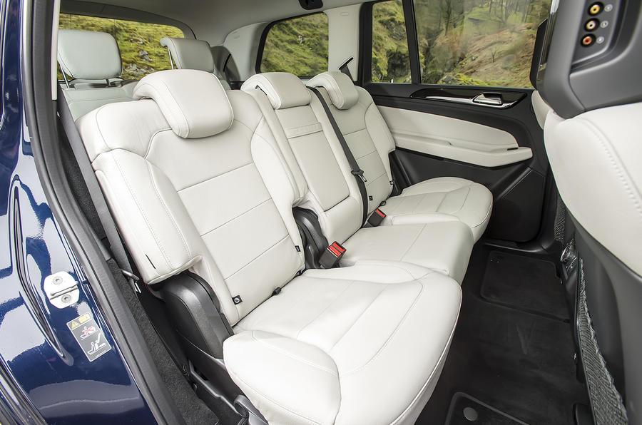 Mercedes GLS 350 d rear seats