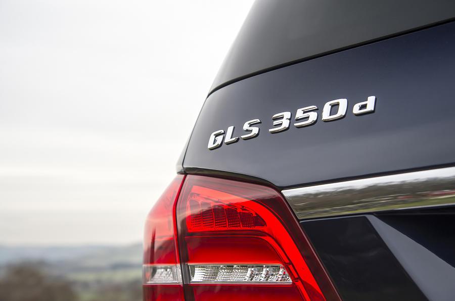 Mercedes GLS350 d badging