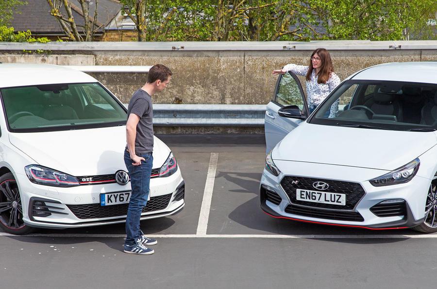 VW Golf GTI vs Hundai i30 N drivers talking