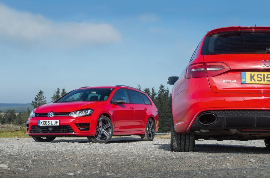 Volkswagen Golf R estate versus Audi RS4 Avant