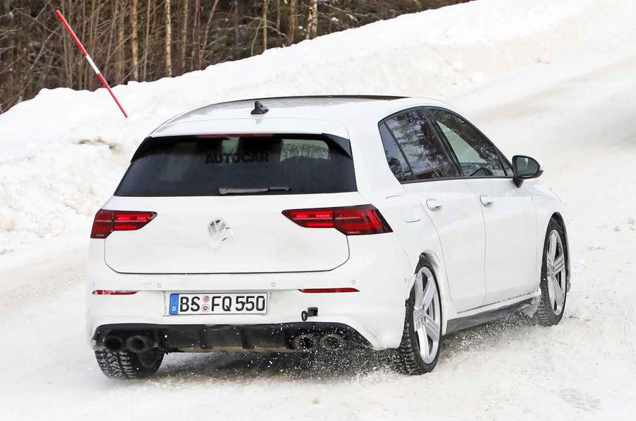 2020 Volkswagen Golf R prototype - rear