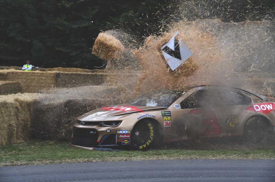 NASCAR crash at Goodwood Festival of Speed