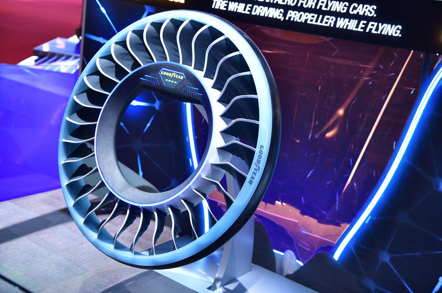 Goodyear creates concept tires that can act as propellers for flying cars