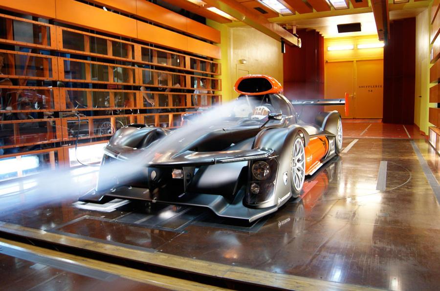 Hydrogen fuel cell racing car