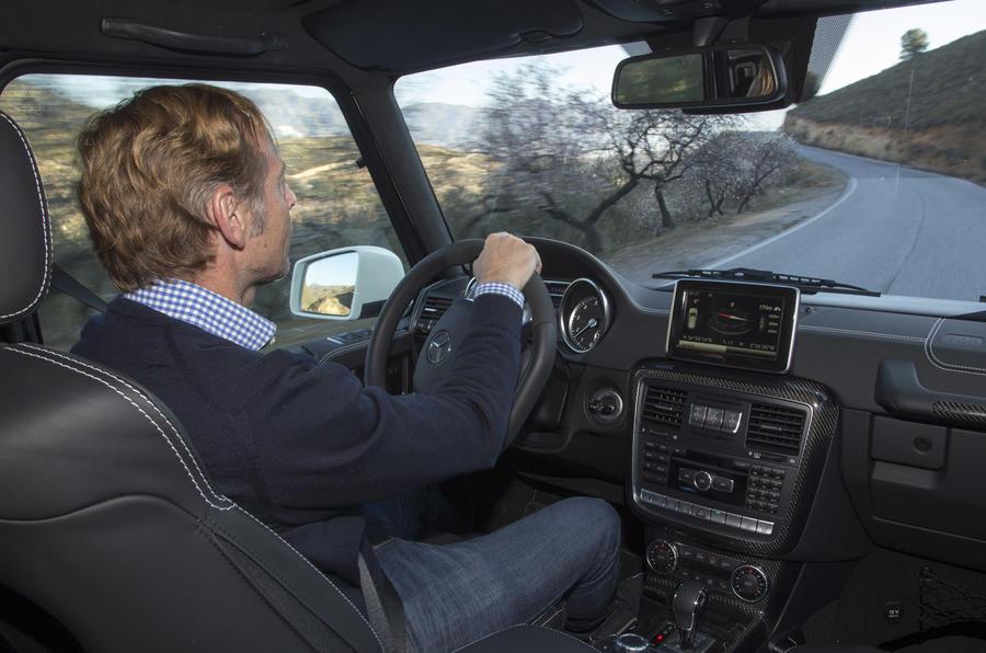 Driving the Mercedes-Benz G 500 4x4