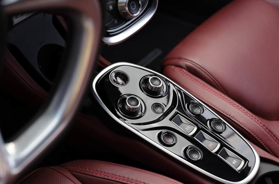 McLaren GT central console