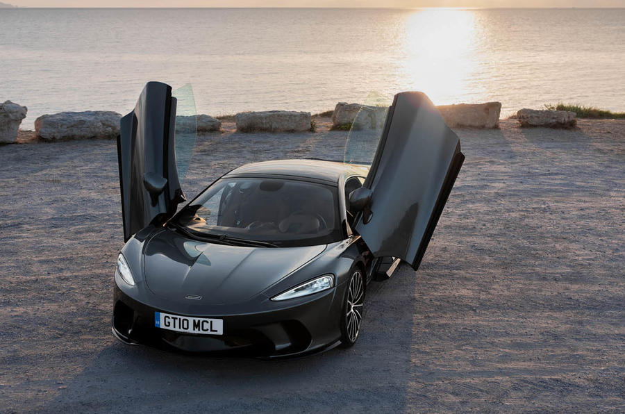 McLaren GT with doors open