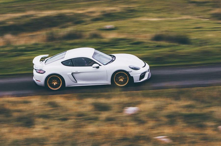 2019 Porsche 718 Cayman GT4 UK review - side
