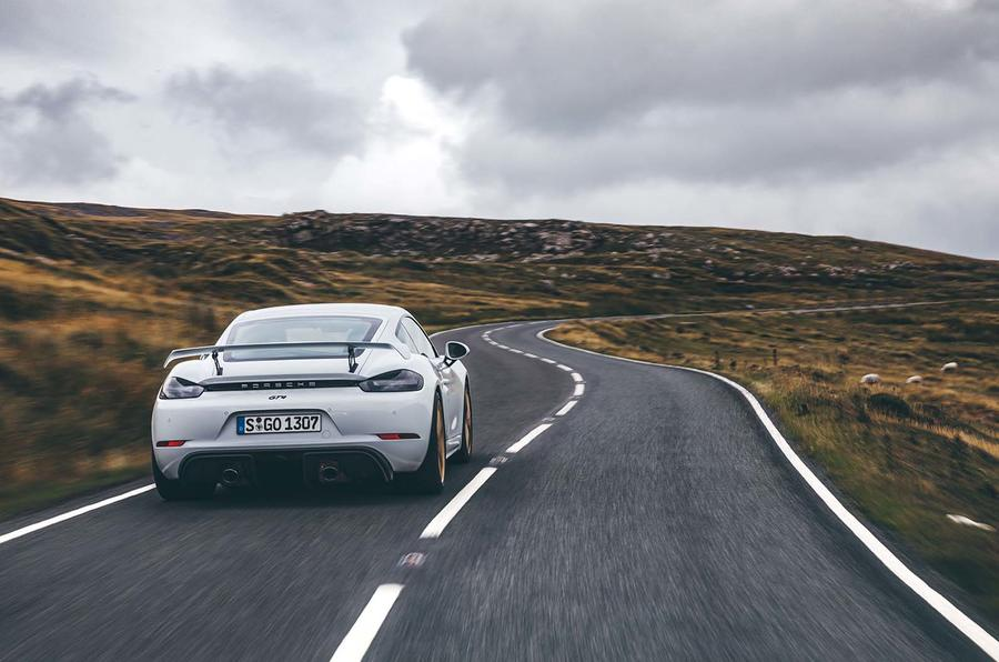 2019 Porsche 718 Cayman GT4 UK review - rear