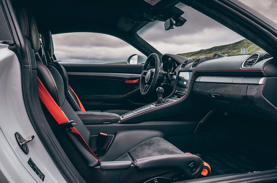 2019 Porsche 718 Cayman GT4 UK review - front seats