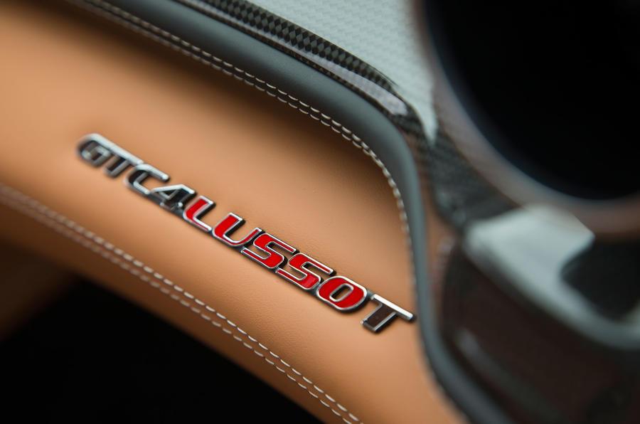 Ferrari GTC4 Lusso interior badging
