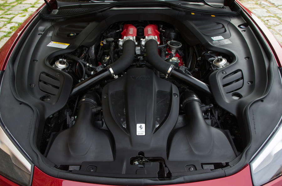 Turbocharged 3.0-litre V8 Ferrari GTC4 Lusso engine