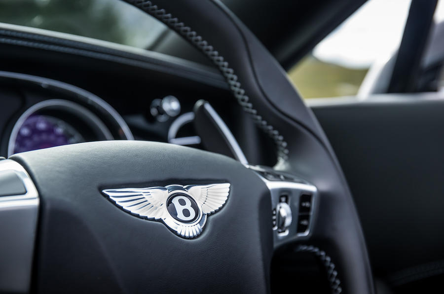 Bentley Continental GT paddle shifters