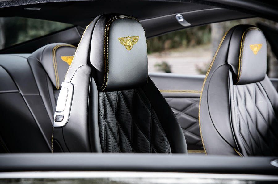 Bentley stitched headrests