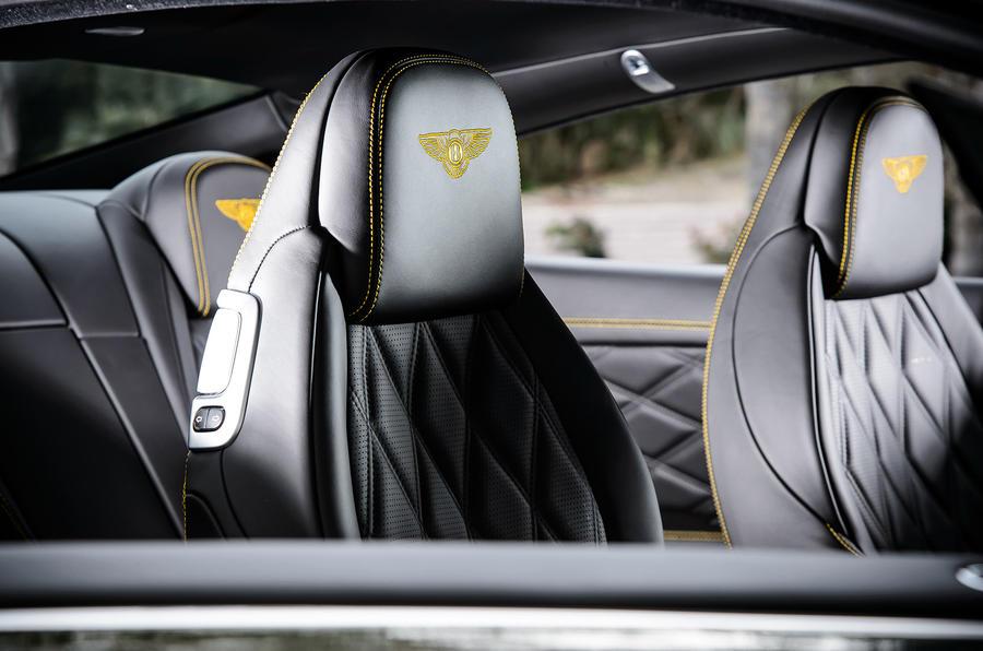 Bentley stitched headrests