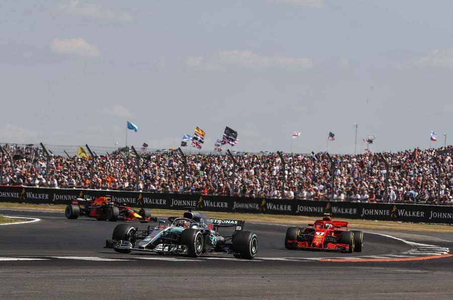 Lewis Hamilton at Silverstone