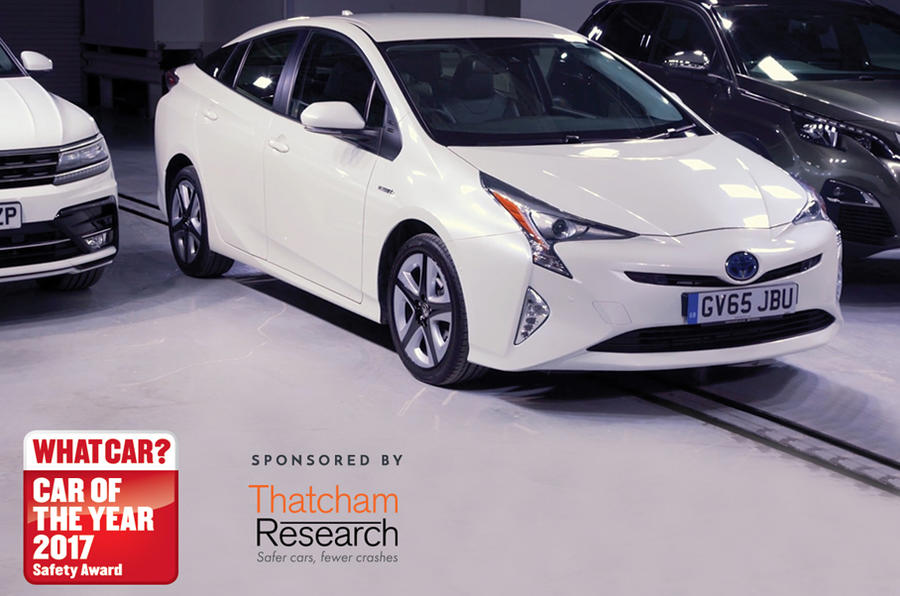 The Toyota Prius - winner of the 2017 What Car? Safety Award