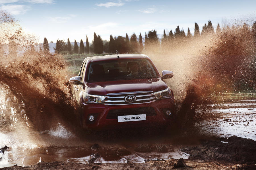 Toyota Hilux Invincible in water