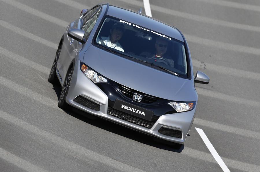 Honda Civic 1.0 prototype cornering